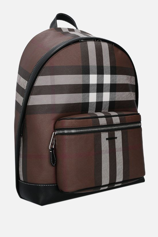 BURBERRY: Jett e-canvas backpack Color Brown_2