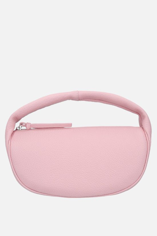 BY FAR: Cush grainy leather handbag Color Pink_1