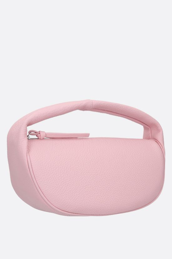 BY FAR: Cush grainy leather handbag Color Pink_2