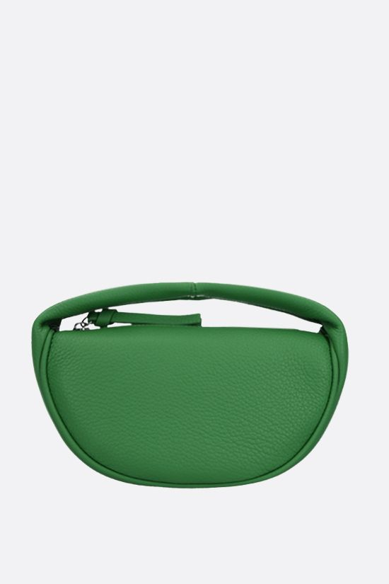 BY FAR: Cush baby grainy leather handbag Color Green_1