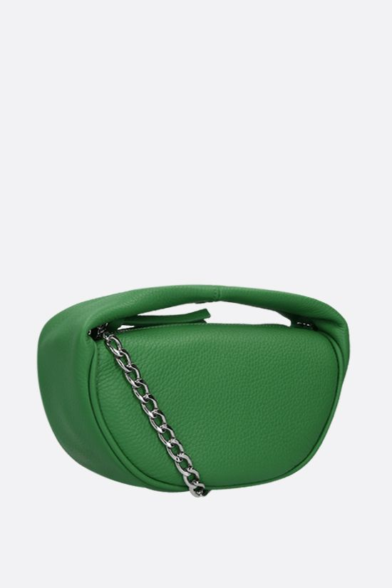 BY FAR: Cush baby grainy leather handbag Color Green_2