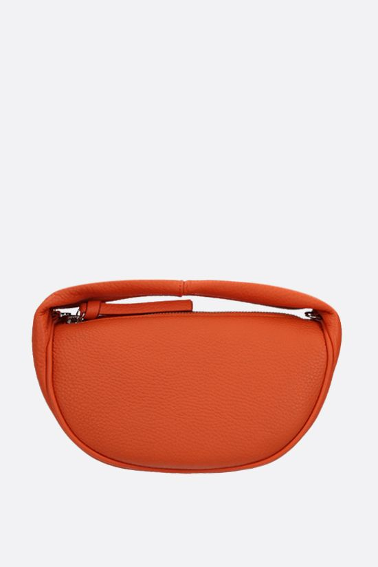 BY FAR: Cush baby grainy leather handbag Color Orange_1