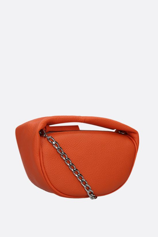 BY FAR: Cush baby grainy leather handbag Color Orange_2