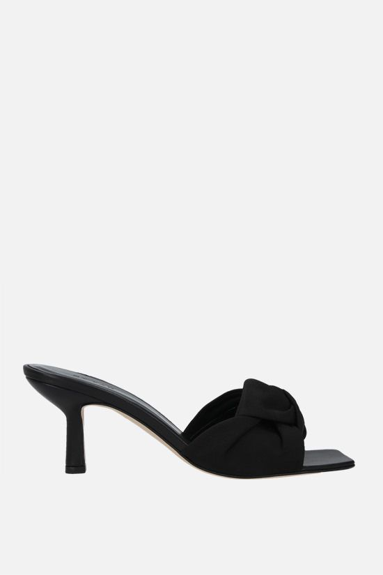 BY FAR: Lana grosgrain mule sandals Color Black_1