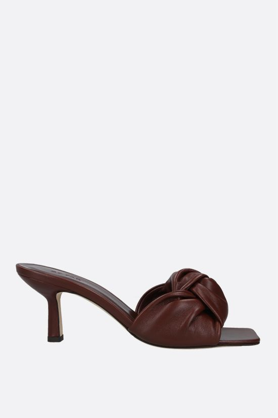 BY FAR: Lana smooth leather mule sandals Color Brown_1