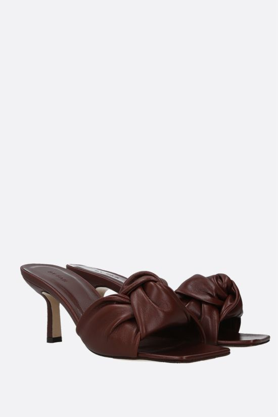 BY FAR: Lana smooth leather mule sandals Color Brown_2