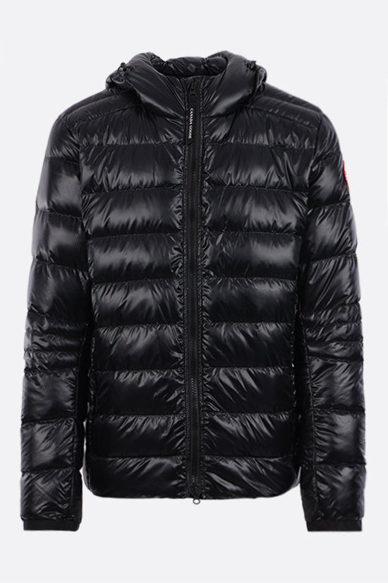 CANADA GOOSE: Crofton recycled nylon down jacket Color Black_1