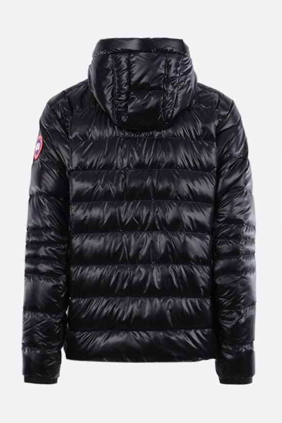 CANADA GOOSE: Crofton recycled nylon down jacket Color Black_2