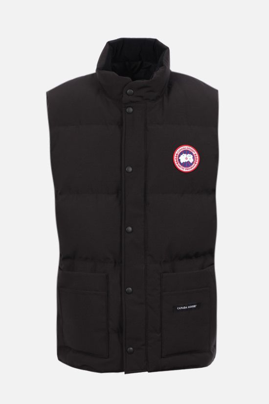 CANADA GOOSE: Freestyle technical canvas sleeveles down jacket Color Black_1