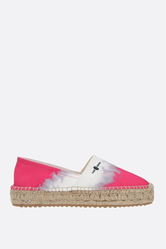 CAR SHOE: printed canvas espadrilles Color White_1