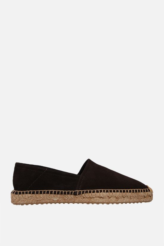 CAR SHOE: suede espadrilles Color Brown_1
