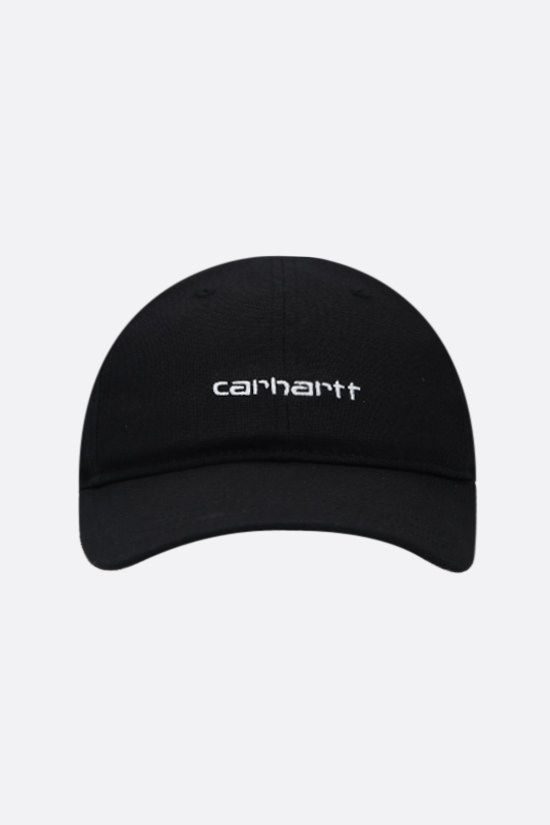 CARHARTT WIP: Script canvas baseball cap Color Black_1