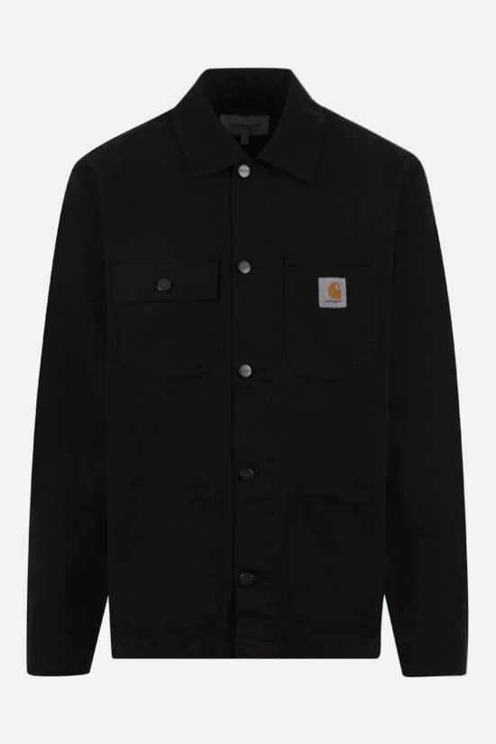 CARHARTT WIP: Michigan cotton shirt jacket Color Black_1