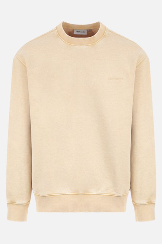 CARHARTT WIP: Mosby Script cotton sweatshirt Color Yellow_1