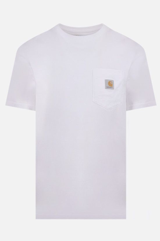 CARHARTT WIP: logo-detailed cotton t-shirt Color White_1