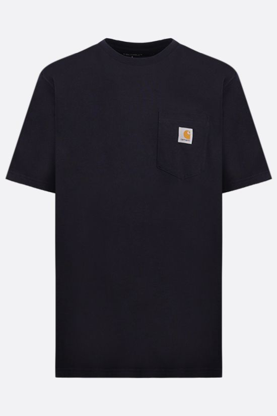 CARHARTT WIP: logo-detailed cotton t-shirt Color Blue_1