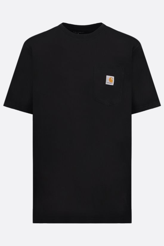 CARHARTT WIP: logo-detailed cotton t-shirt Color Black_1