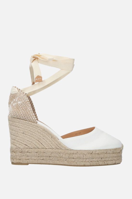 CASTANER: Carina canvas and jute wedge espadrilles Color White_1