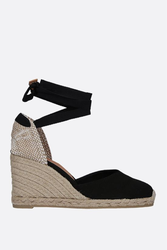 CASTANER: Carina canvas and jute wedge espadrilles Color Black_1