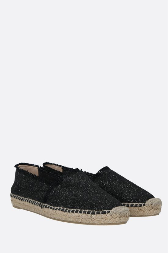 CASTANER: Kito canvas and lurex espadrilles Color Black_2