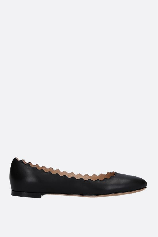 CHLOÈ: Lauren nappa ballerinas Color Black_1