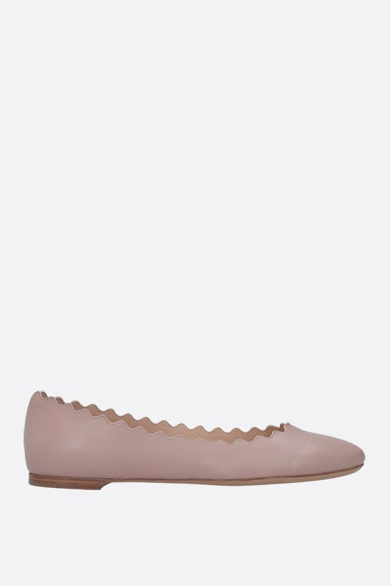 CHLOÈ: Lauren nappa leather ballerinas Color Pink_1