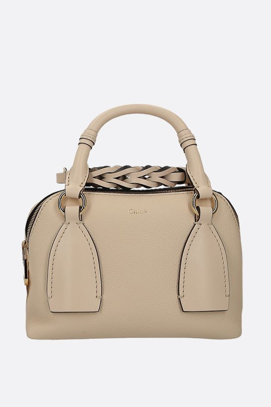CHLOÈ: Daria small grainy and smooth leather handbag Color Yellow_1