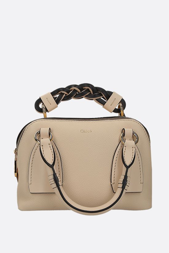 CHLOÈ: Daria small grainy and smooth leather handbag Color Yellow_2