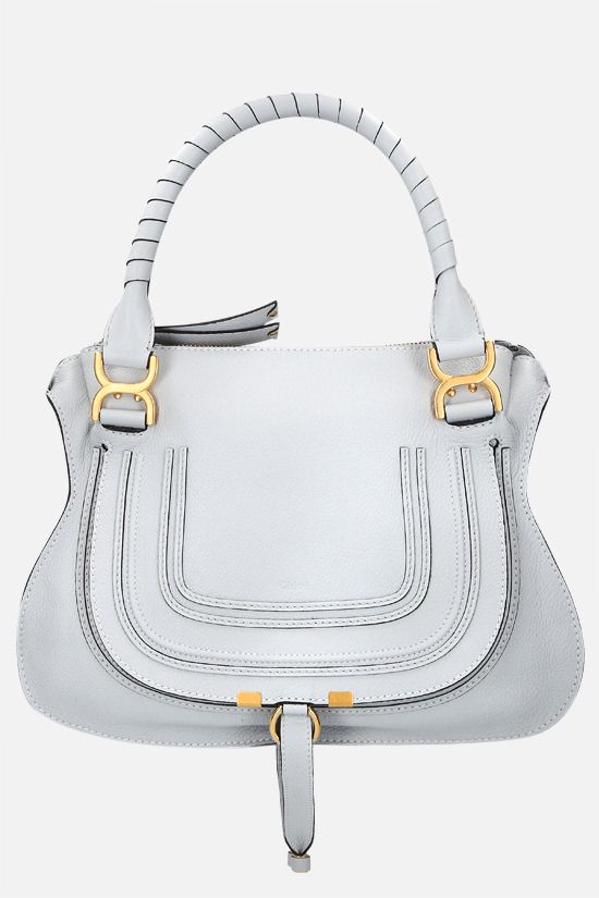 CHLOÈ: Marcie grainy leather handbag Color Grey_1