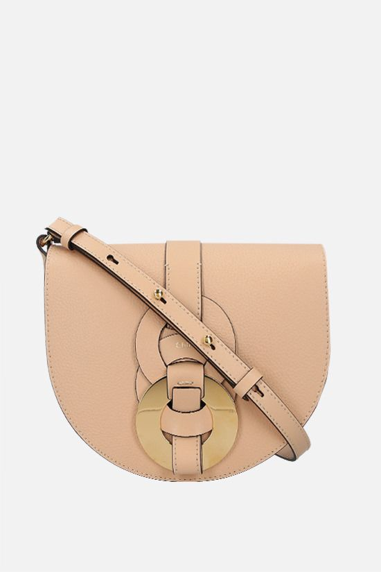 CHLOÈ: Darryl small grainy leather crossbody bag Color Neutral_1