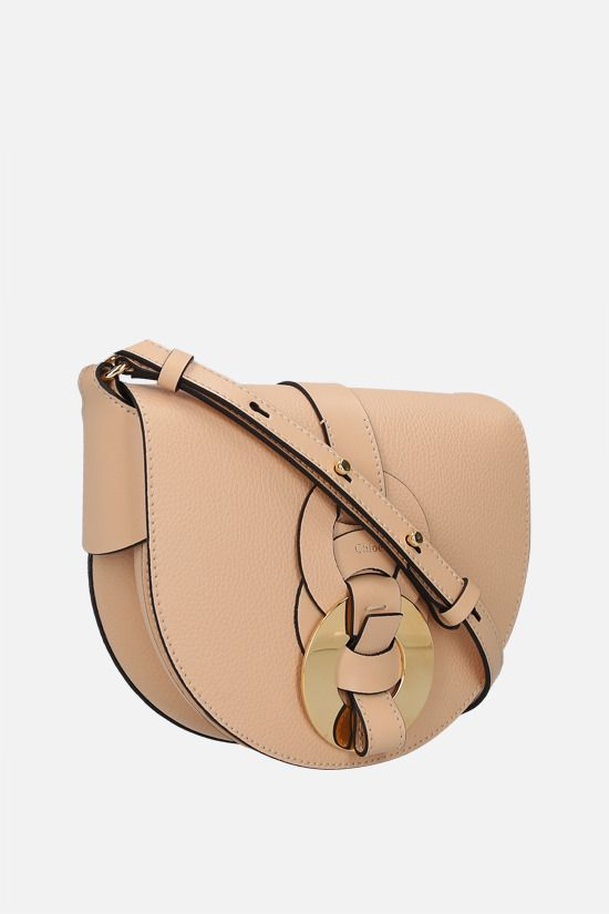 CHLOÈ: Darryl small grainy leather crossbody bag Color Neutral_2