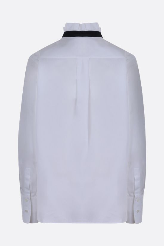 CHLOÈ: C embroidered cotton shirt Color White_2