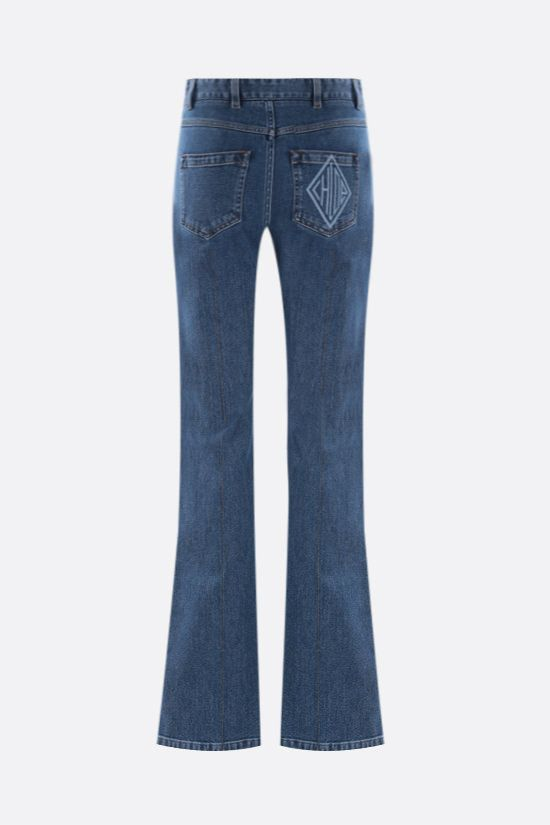 CHLOÈ: logo-detailed wide-leg jeans Color Blue_2