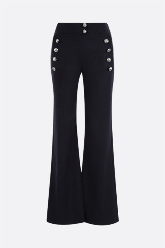 CHLOÈ: stretch wool flared pants Color Blue_1