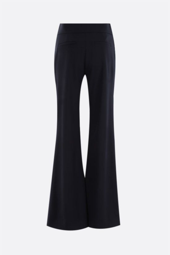CHLOÈ: stretch wool flared pants Color Blue_2