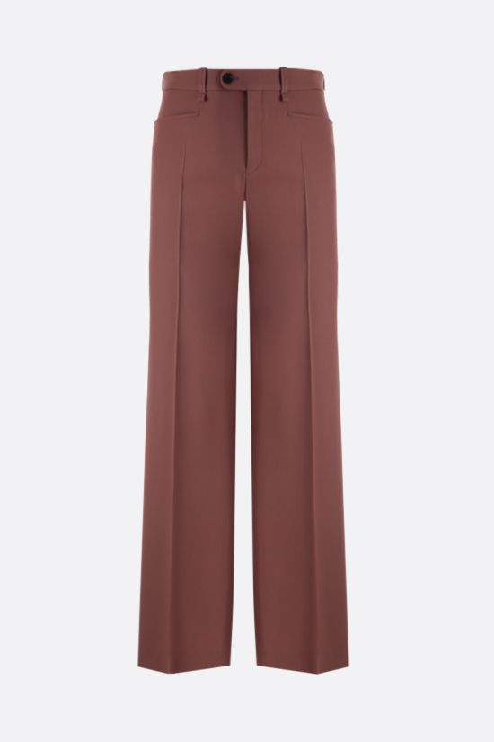 CHLOÈ: wool wide-leg pants Color Brown_1