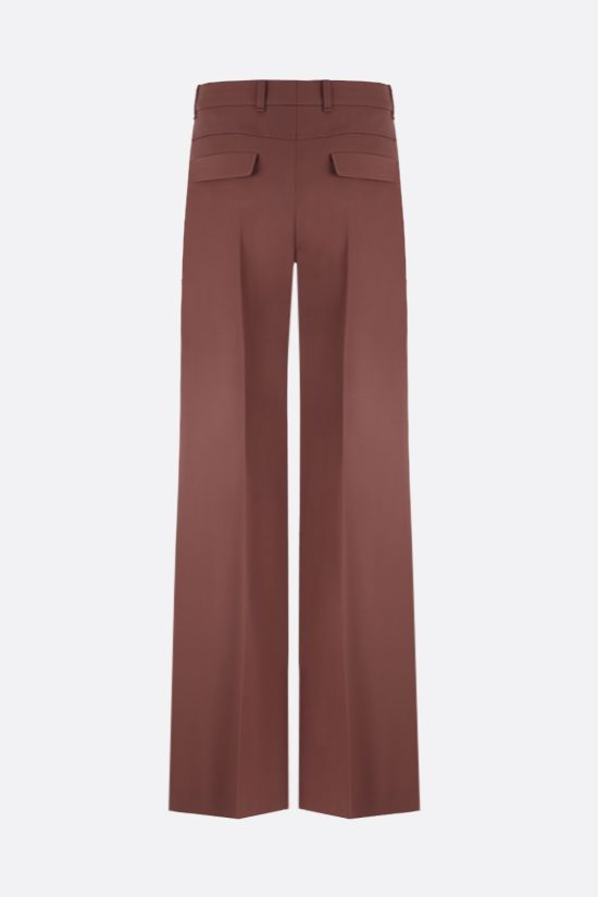 CHLOÈ: wool wide-leg pants Color Brown_2