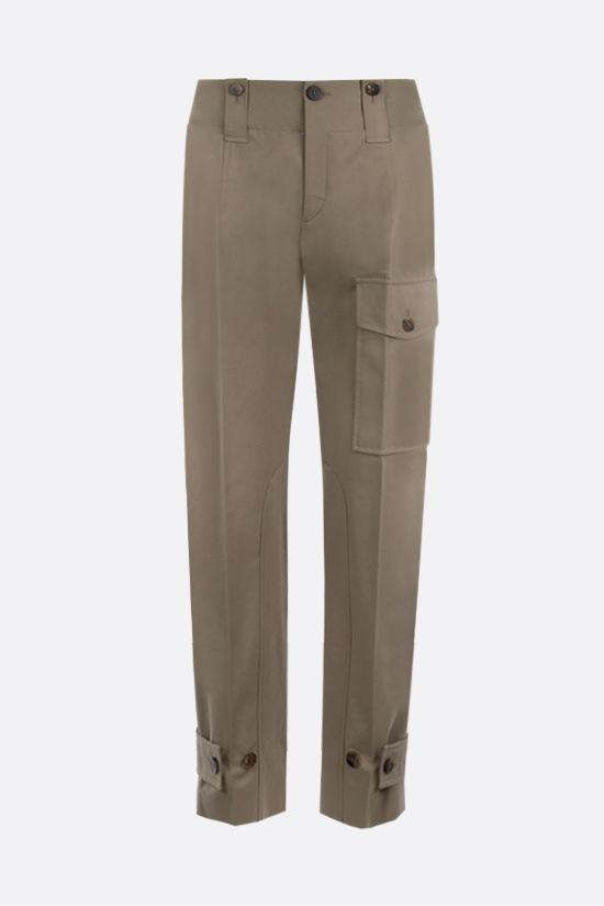 CHLOÈ: stretch cotton cargo pants Color Grey_1