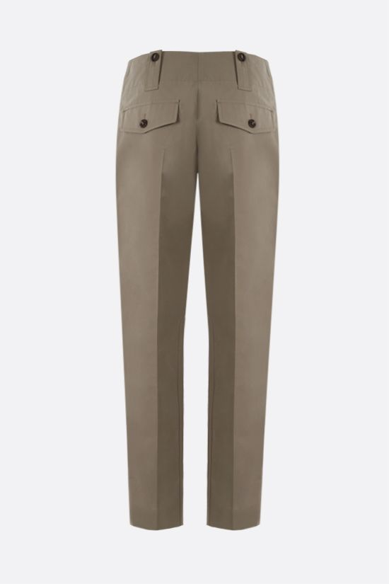 CHLOÈ: stretch cotton cargo pants Color Grey_2