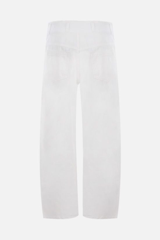 CHLOÈ: herringbone cotton cropped pants Color White_2