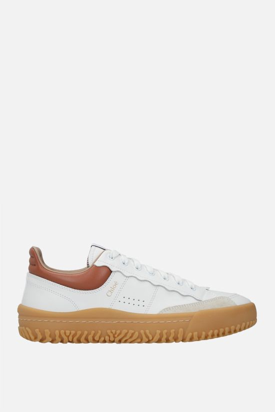 CHLOÈ: Franckie smooth leather sneakers Color Multicolor_1