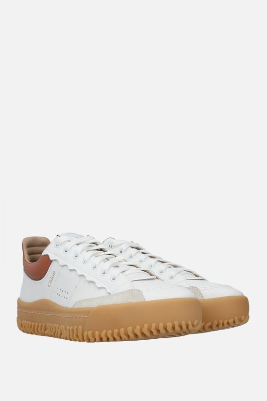 CHLOÈ: Franckie smooth leather sneakers Color Multicolor_2
