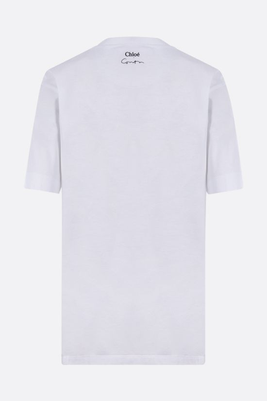 CHLOÈ: Corita Kent print cotton t-shirt Color White_2