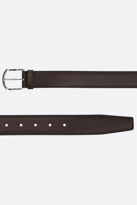 CHURCH'S: brushed leather classic belt Color Brown_2