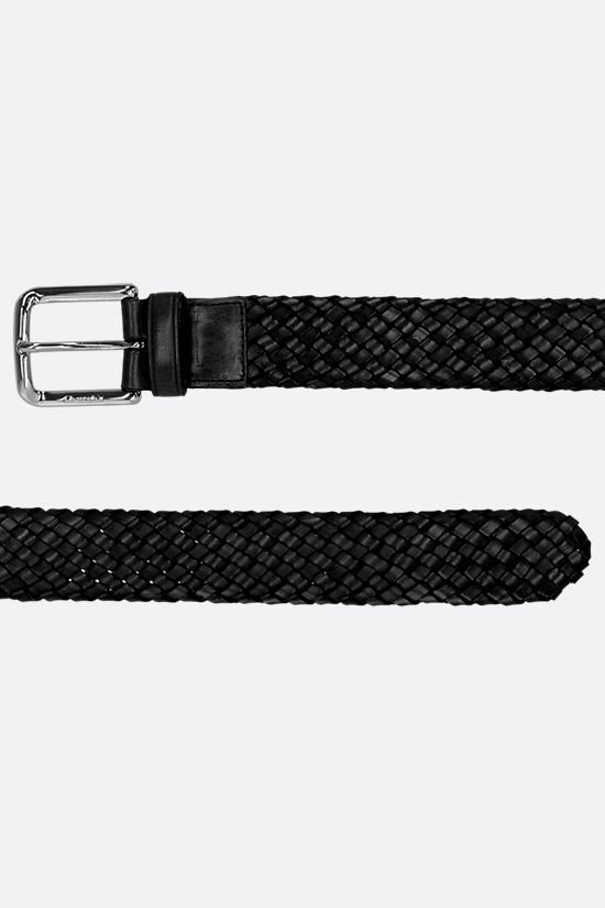 CHURCH'S: woven leather classic belt Color Black_2