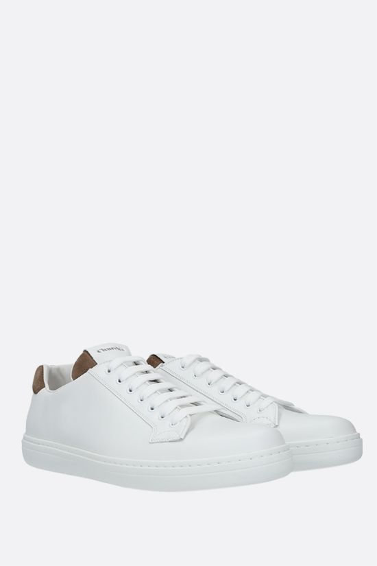 CHURCH'S: Boland Plus 2 smooth leather and suede sneakers Color White_2
