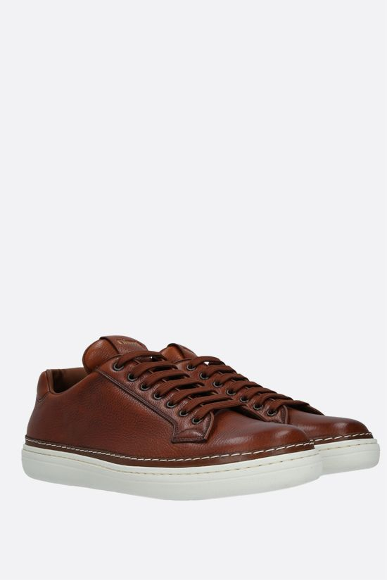CHURCH'S: Boland Plus 3 grainy leather sneakers Color Brown_2