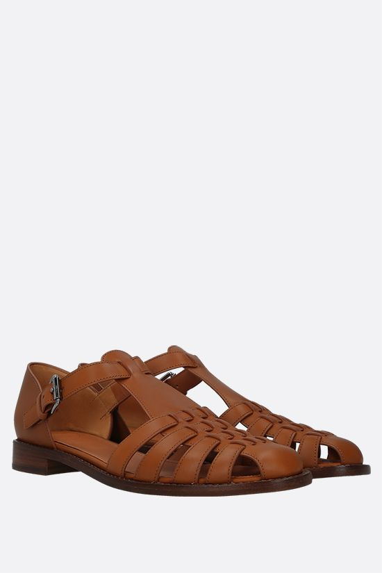 CHURCH'S: Kelsey sandals in Prestige leather Color Neutral_2