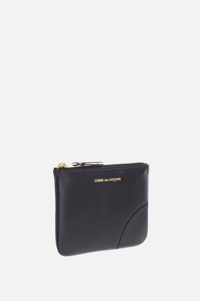 COMME des GARCONS WALLET: smooth leather small pouch Color Black_2