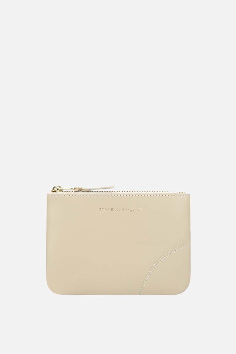 COMME des GARCONS WALLET: busta small in pelle liscia Colore Bianco_1